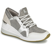 Παπούτσια Γυναίκα Χαμηλά Sneakers MICHAEL Michael Kors LIV TRAINER Silver