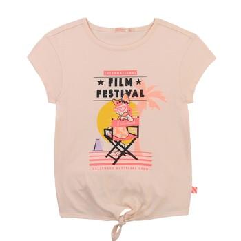 Υφασμάτινα Κορίτσι T-shirt με κοντά μανίκια Billieblush / Billybandit U15852-44F Ροζ
