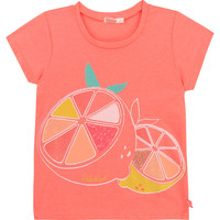 Υφασμάτινα Κορίτσι T-shirt με κοντά μανίκια Billieblush / Billybandit U15864-499 Ροζ