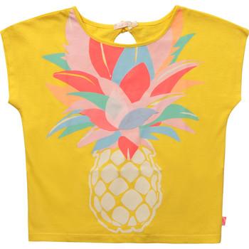 Υφασμάτινα Κορίτσι T-shirt με κοντά μανίκια Billieblush / Billybandit U15873-548 Yellow