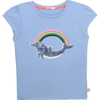 Υφασμάτινα Κορίτσι T-shirt με κοντά μανίκια Billieblush / Billybandit U15875-798 Μπλέ
