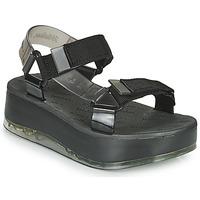 Παπούτσια Γυναίκα Σανδάλια / Πέδιλα Melissa PAPETE PLATFORM + RIDER Black / Grey