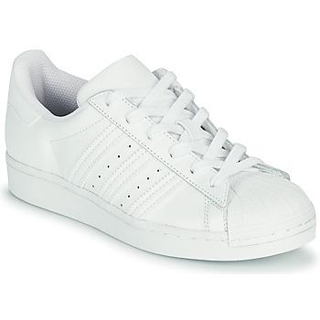 Παπούτσια Παιδί Χαμηλά Sneakers adidas Originals SUPERSTAR J Άσπρο