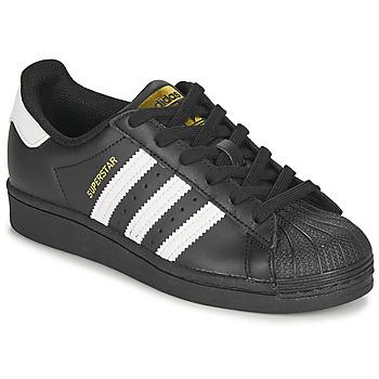 Παπούτσια Παιδί Χαμηλά Sneakers adidas Originals SUPERSTAR J Black / Άσπρο