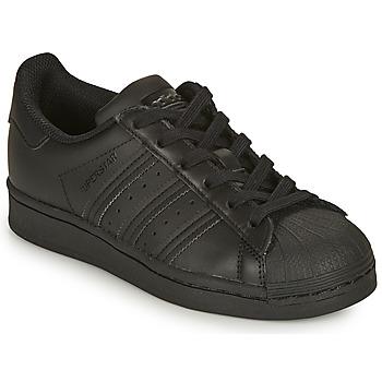 Παπούτσια Παιδί Χαμηλά Sneakers adidas Originals SUPERSTAR J Black
