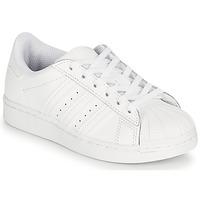 Παπούτσια Παιδί Χαμηλά Sneakers adidas Originals SUPERSTAR C Άσπρο