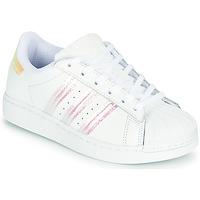 Παπούτσια Κορίτσι Χαμηλά Sneakers adidas Originals SUPERSTAR C Άσπρο / Iridescent