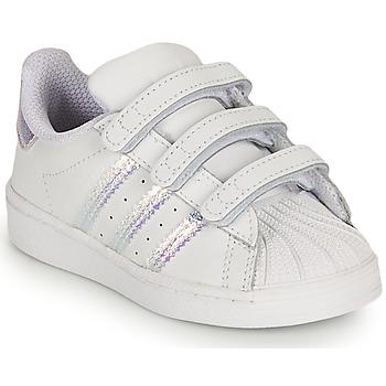 Παπούτσια Κορίτσι Χαμηλά Sneakers adidas Originals SUPERSTAR CF I Άσπρο / Iridescent