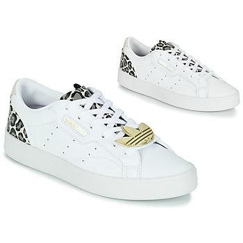 Παπούτσια Γυναίκα Χαμηλά Sneakers adidas Originals adidas SLEEK W Άσπρο / Leopard
