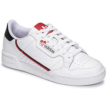 Παπούτσια Γυναίκα Χαμηλά Sneakers adidas Originals CONTINENTAL 80 Άσπρο / Red