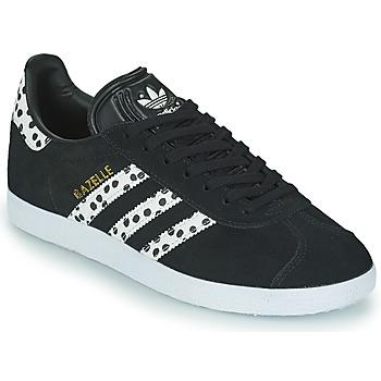 Παπούτσια Γυναίκα Χαμηλά Sneakers adidas Originals GAZELLE W Black / Άσπρο