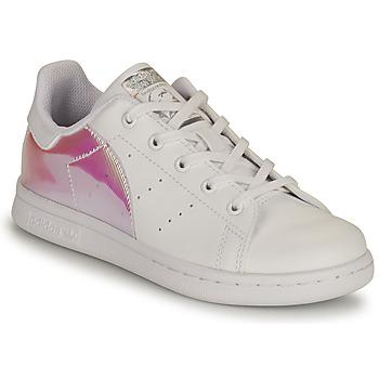Παπούτσια Κορίτσι Χαμηλά Sneakers adidas Originals STAN SMITH C SUSTAINABLE Άσπρο / Ροζ / Iridescent