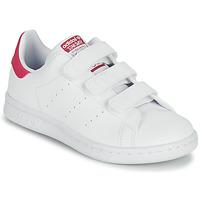 Παπούτσια Κορίτσι Χαμηλά Sneakers adidas Originals STAN SMITH CF C SUSTAINABLE Άσπρο / Ροζ