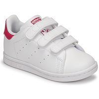 Παπούτσια Κορίτσι Χαμηλά Sneakers adidas Originals STAN SMITH CF I SUSTAINABLE Άσπρο / Ροζ
