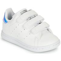 Παπούτσια Κορίτσι Χαμηλά Sneakers adidas Originals STAN SMITH CF I SUSTAINABLE Άσπρο / Iridescent