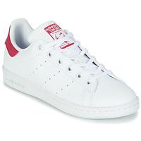 Παπούτσια Κορίτσι Χαμηλά Sneakers adidas Originals STAN SMITH J SUSTAINABLE Άσπρο / Ροζ