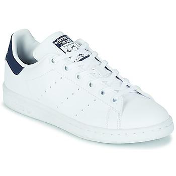 Παπούτσια Παιδί Χαμηλά Sneakers adidas Originals STAN SMITH J SUSTAINABLE Άσπρο / Marine / Vegan
