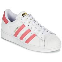 Παπούτσια Γυναίκα Χαμηλά Sneakers adidas Originals SUPERSTAR W Άσπρο / Ροζ