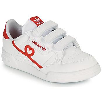 Παπούτσια Κορίτσι Χαμηλά Sneakers adidas Originals CONTINENTAL 80 CF C Άσπρο / Red