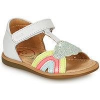 Παπούτσια Κορίτσι Σανδάλια / Πέδιλα Shoo Pom TITY RAINBOW Άσπρο