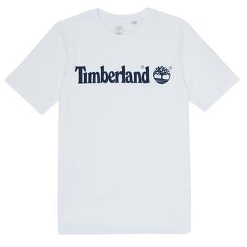 Υφασμάτινα Αγόρι T-shirt με κοντά μανίκια Timberland FONTANA Άσπρο