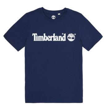 Υφασμάτινα Αγόρι T-shirt με κοντά μανίκια Timberland VUILL Marine