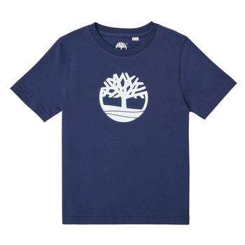 Υφασμάτινα Αγόρι T-shirt με κοντά μανίκια Timberland TRISTA Μπλέ