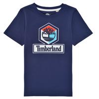 Υφασμάτινα Αγόρι T-shirt με κοντά μανίκια Timberland GRISS Marine