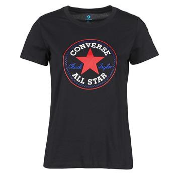 Υφασμάτινα Γυναίκα T-shirt με κοντά μανίκια Converse CHUCK PATCH NOVA TEE Black