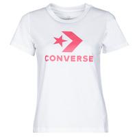 Υφασμάτινα Γυναίκα T-shirt με κοντά μανίκια Converse STAR CHEVRON CENTER FRONT TEE Άσπρο