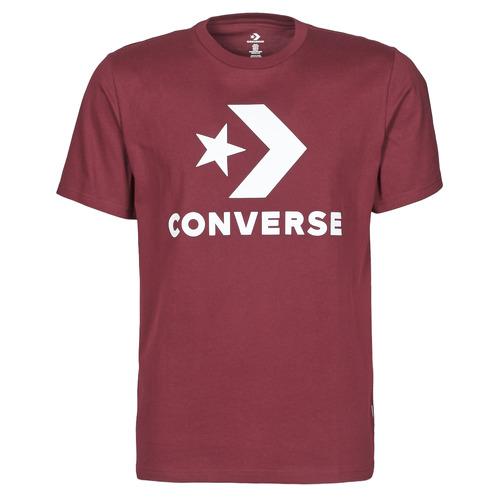 Υφασμάτινα Άνδρας T-shirt με κοντά μανίκια Converse STAR CHEVRON TEE Bordeaux