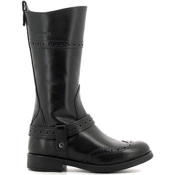 Παπούτσια Παιδί Μπότες για την πόλη Geox J6449B 00043 Μαύρος