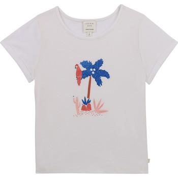 Υφασμάτινα Κορίτσι T-shirt με κοντά μανίκια Carrément Beau Y15383-10B Άσπρο