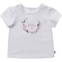 Υφασμάτινα Κορίτσι T-shirt με κοντά μανίκια Carrément Beau Y95270-10B Άσπρο
