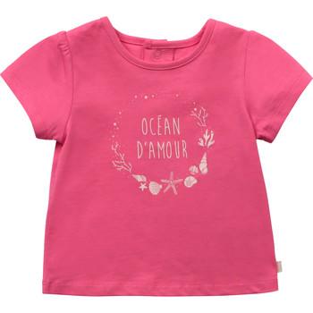 Υφασμάτινα Κορίτσι T-shirt με κοντά μανίκια Carrément Beau Y95270-46C Ροζ