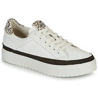 Παπούτσια Γυναίκα Χαμηλά Sneakers Regard HENIN Άσπρο / Black