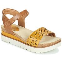 Παπούτσια Γυναίκα Σανδάλια / Πέδιλα Josef Seibel CLEA 09 Brown / Yellow