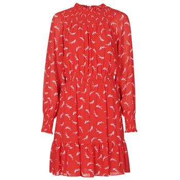 Υφασμάτινα Γυναίκα Κοντά Φορέματα MICHAEL Michael Kors SIGNATRE LOGO SMCK DR Red
