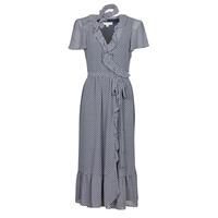 Υφασμάτινα Γυναίκα Μακριά Φορέματα MICHAEL Michael Kors MINI BICOLR 60S FLRL DRS Μπλέ