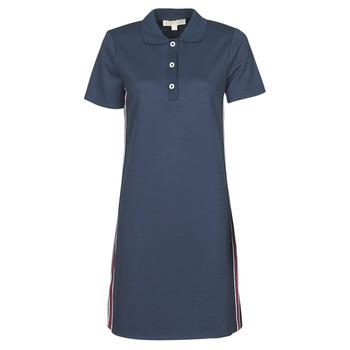 Υφασμάτινα Γυναίκα Κοντά Φορέματα MICHAEL Michael Kors SS LOGO TAPE POLO DRS Marine