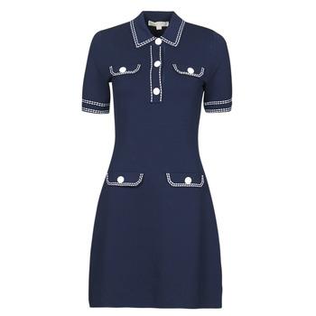 Υφασμάτινα Γυναίκα Κοντά Φορέματα MICHAEL Michael Kors CONTRAST STITCH BUTTON DRESS Marine
