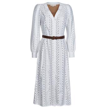 Υφασμάτινα Γυναίκα Μακριά Φορέματα MICHAEL Michael Kors ROPE STRIPES HEMP DS Άσπρο