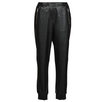 Υφασμάτινα Γυναίκα Παντελόνια Πεντάτσεπα Karl Lagerfeld FAUXLEATHERJOGGERS Black