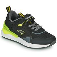 Παπούτσια Αγόρι Χαμηλά Sneakers Kangaroos KD-GYM EV Black / Yellow