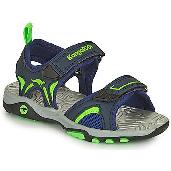 Παπούτσια Αγόρι Σανδάλια / Πέδιλα Kangaroos K-MONT Μπλέ / Green
