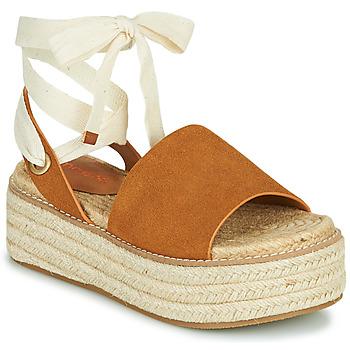 Παπούτσια Γυναίκα Σανδάλια / Πέδιλα Emmshu SEARA Cognac
