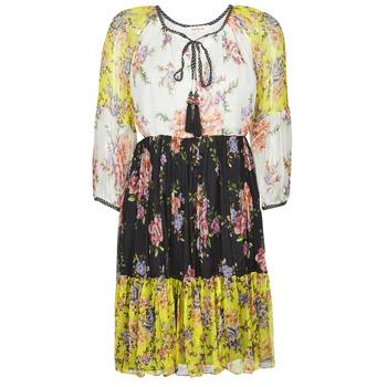 Υφασμάτινα Γυναίκα Κοντά Φορέματα Derhy SARDAIGNE Black / Άσπρο / Yellow