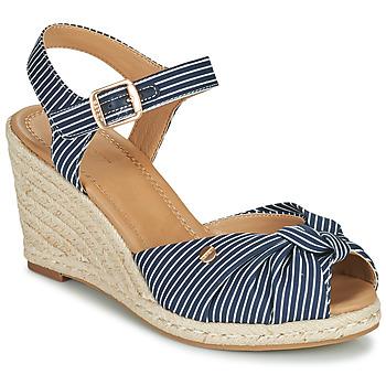 Παπούτσια Γυναίκα Σανδάλια / Πέδιλα Esprit ELIN Μπλέ / Άσπρο