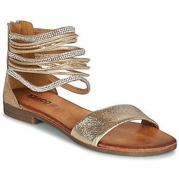 Παπούτσια Γυναίκα Σανδάλια / Πέδιλα IgI&CO BRONIA Gold / Cognac