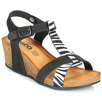 Παπούτσια Γυναίκα Σανδάλια / Πέδιλα IgI&CO JOULIA Black / Άσπρο